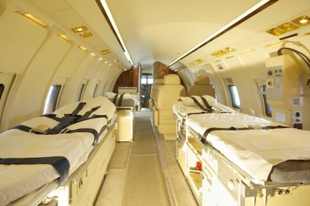 Challenger 604 stretcher