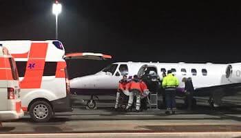 air ambulance flight to Germany